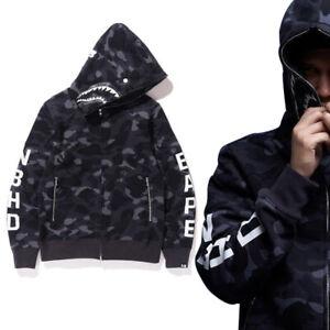Men/'s Women/'s Camo SHARK Dinosaur Head Hoodie Jacket Sweatshirt Full Zipper Coat