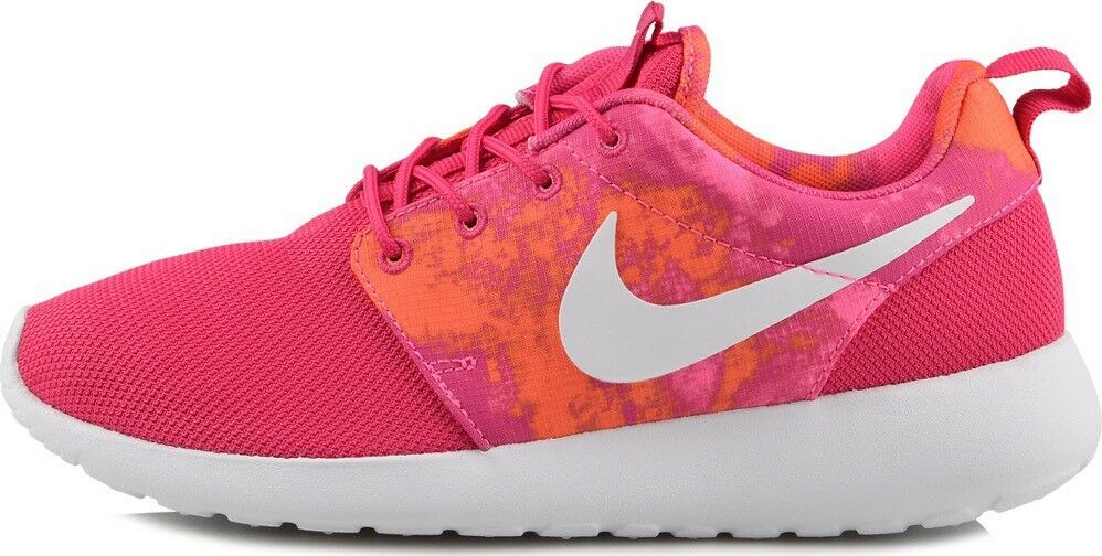 3a6dadbc0426b ... NIKE ROSHE RUN PRINT PRINT PRINT FIRE BERRY PINK WOMEN S RUNNING SHOES  100% AUTHENTIC