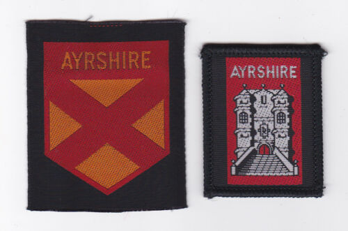 SCOUTS OF SCOTLAND SCOTTISH AYRSHIRE SCOUT COUNTY PATCH 2 VAR