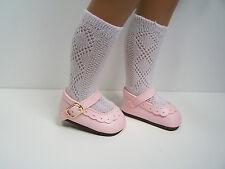 """LT YELLOW Princess SlipOn Flats w//Bow Doll Shoes FOR 16/"""" Debs 17/"""" Sasha"""
