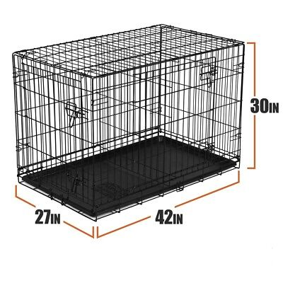 Dog Crate 42 Inches Large Double Door