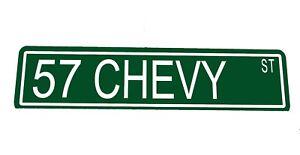 "Metal Custom Street Sign /""57 Chevy St/""  Man Cave Chevy Chevrolet Car 42057z"