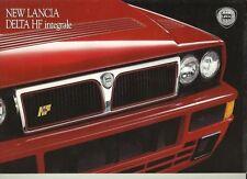 Lancia Delta HF Integrale 16 Page UK English Language Sales Brochure