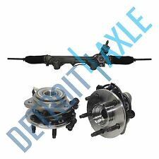 3 pc Set: Steering Rack and Pinion + 2 Wheel Hub Bearing Assembly; 4WD