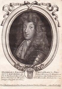 Portrait-XVIIe-Maximilien-Emmanuel-de-Baviere-Maximilian-II-Emanuel-Electeur