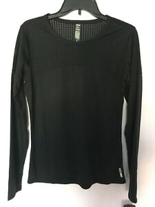 RBX-Active-wear-Athletic-Gym-Long-Sleeve-Neck-Top-Shirt-Black-NWT