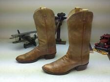 VINTAGE EL REY TONY LAMA MADE IN USA AMBER DISTRESSED ENGINEER WORK BOOTS 9 D