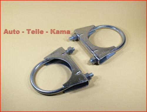 2 x Auspuffschelle für Abgasanlage Auspuff M8 Ø 65 mm