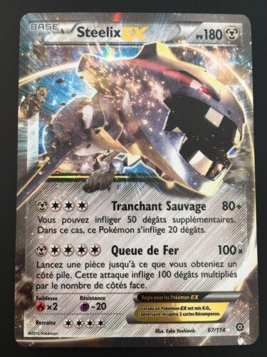 Carte Pokemon STEELIX 67/114 Holo EX XY11 Française NEUF kaartspellen Pokémon