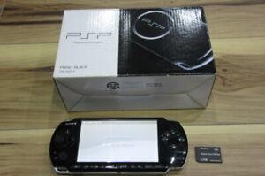 Sony-PSP-3000-Console-Piano-Black-w-box-1GB-memory-card-Japan-K598