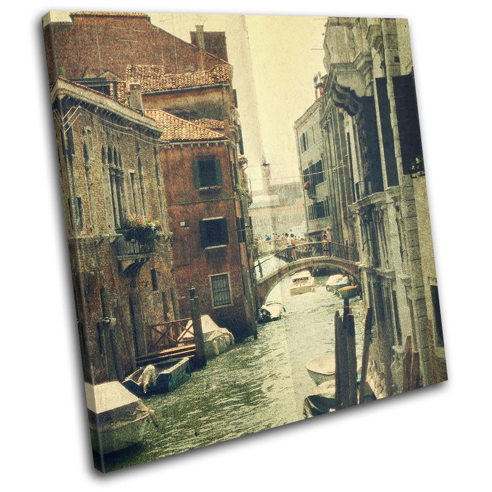 Venice Venice Venice Bridge Italy Shabby Chic  Vintage SINGLE TOILE murale ART Photo Print 34f8a7