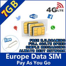 Prepaid Spanish SIM Card With 2gb Data and 1000 Minut Calls