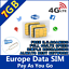 Europe-Prepaid-Sim-Card-7GB-data-with-4G-LTE-speed-Europe-holiday-trip-Holiday thumbnail 1