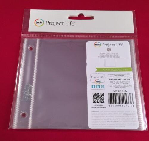 PROJECT LIFE 4X4 RING 1 4X4 PHOTO SLEEVE by BECKY HIGGINS  50133-6 10 PACK