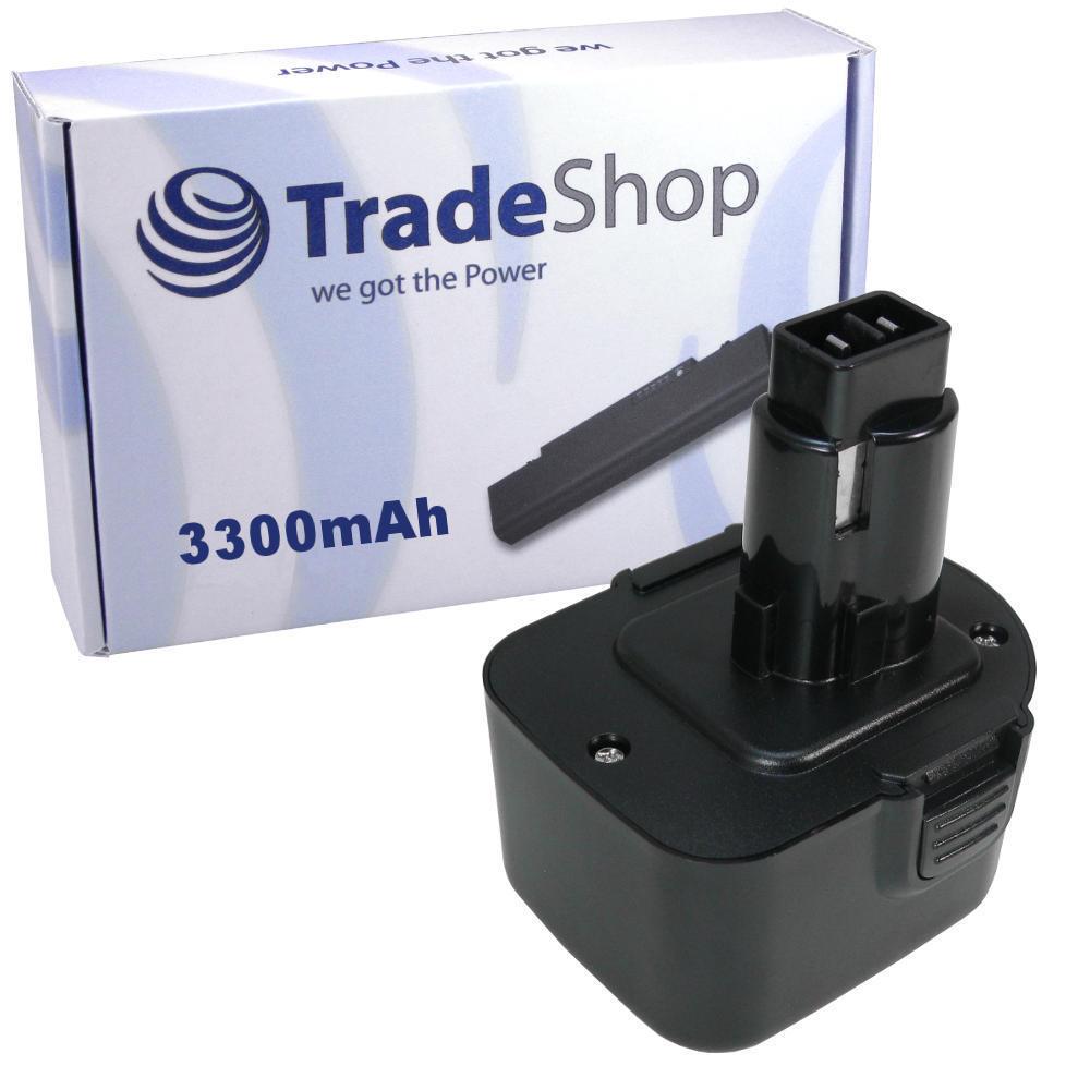 Batterie 12v 3300mah 3300mah 3300mah ni-mh pour DEWALT dw907z dw927k2 dw927k-2 dw952k2 dw980 8215a6