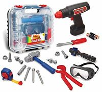 Kid Toy Tool Set 20 Piece Electronic Cordless Drill Pretend Play Construction