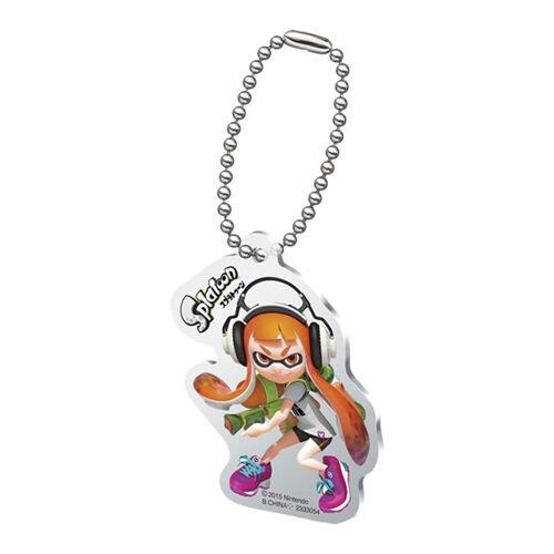 Splatoon Orange Female Inkling with Gun Acrylic Key Chain Anime Licensed MINT