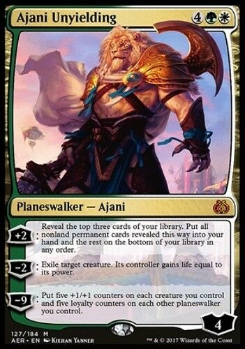 English, Aether Revolt, Free P/&P MTG Ajani Unyielding