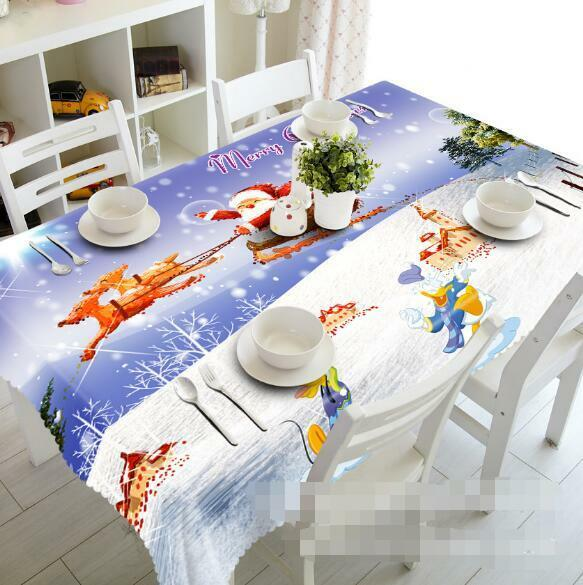 3D Winter 8515 Tablecloth Table Cover Cloth Birthday Party Event AJ WALLPAPER AU