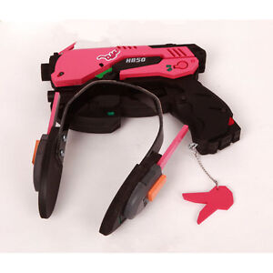 D.va Gun And Headset For Cosplay Pvc Pink D Va Gun Dva Headset Dva Earphone For Exhibition Costumes & Accessories Novelty & Special Use