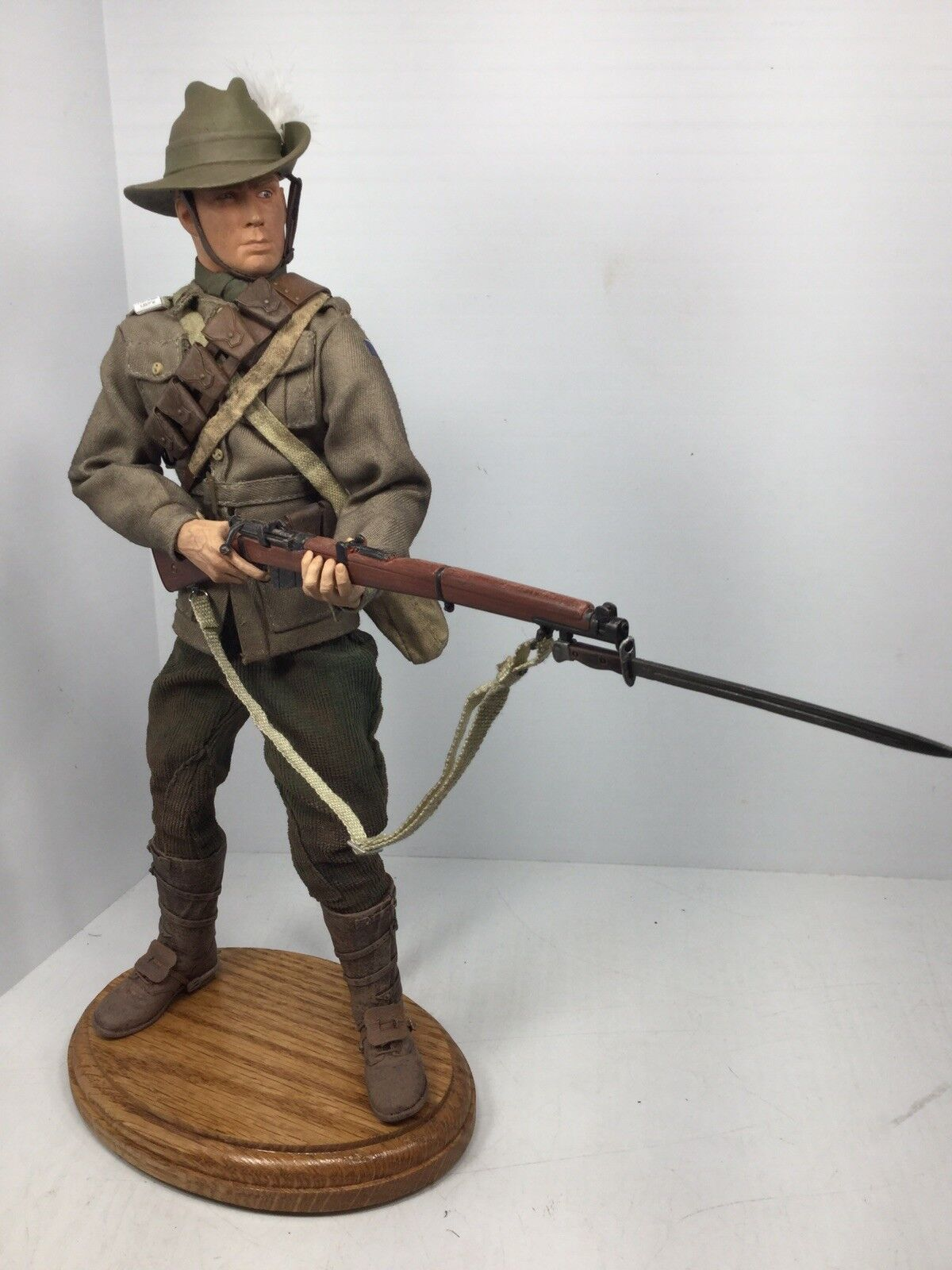 1 6 SIDESHOW WW1 AUSTRALIAN 4TH  LIGHT HORSEMAN BRDG + STAND DRAGON DID BBI 21st