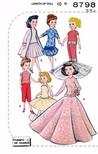 "Bride Gown Jan dolls Butteric 10 1//2/"" doll Wardrobe Pattern No 8798 Fits Jill"
