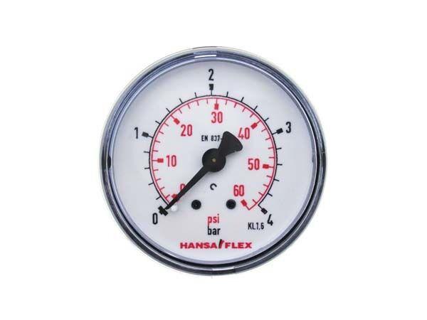 Manometer 50 mm Au/ßengewinde hinten 1//4