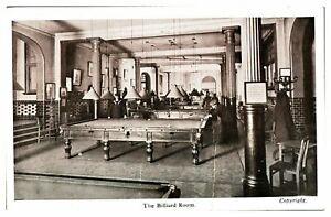 Antique-WW1-military-printed-postcard-Union-Jack-Club-The-Billiard-Room