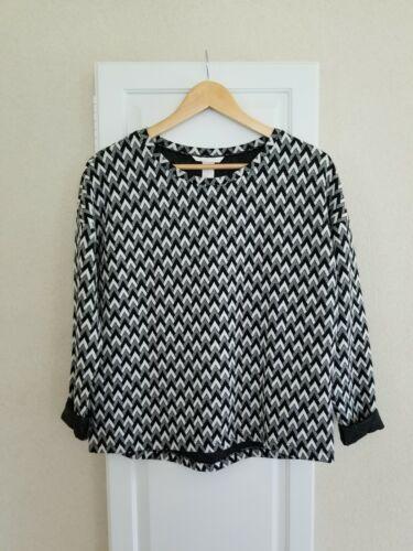 H&M Women's Black and White Chevron Herringbone To