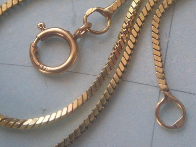 750 Gold Weißgold 1,9mm Schlangenkette Kette Collier Goldkette 40cm Unisex