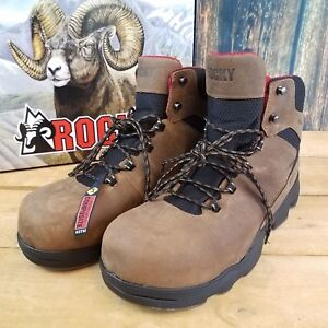 f28886f3f6c Details about Rocky Men's RKK0182 Mobilite LT Brown Composite Toe  Waterproof Work Boots NWT