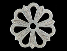 Western Tack Antique Silver Filigree Concho Adapter