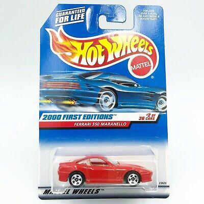 New 2000 Hot Wheels First Editions Series Ferrari 550 Maranello Red