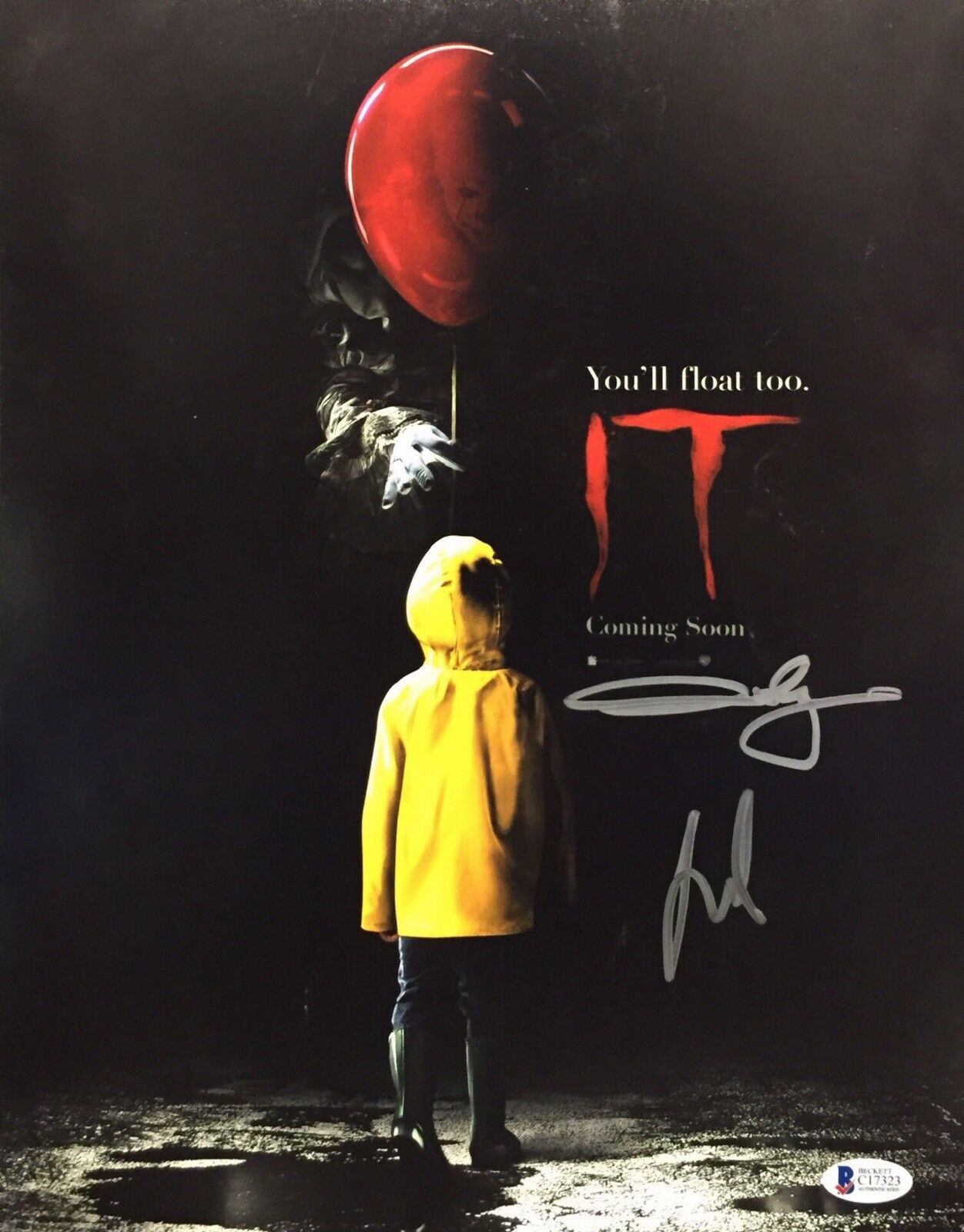 Jaeden Lieberher And Andy Muschietti Signed 'It' 11x14 Photo Beckett C17323