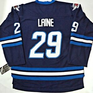 NWT PATRIK LAINE WINNIPEG JETS NHL TEAM LICENSED HOCKEY JERSEY L XL ... 037d638ed