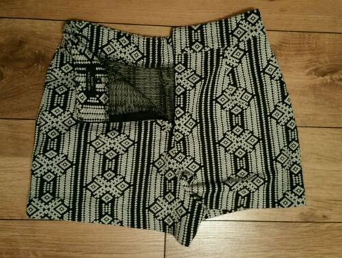 6 modello Uk taglia azteco Petite Pantaloncini Black New Look White RwnAHqApv