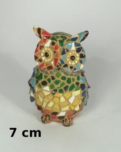 superbe hibou style Gaudi,Barcelone,artiste,décoraton,collection,mosaïque B
