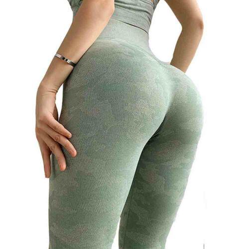 UK Womens Gym Seamless Fitness Leggings High Waist Training Sports Yoga Pants