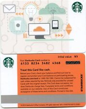 NEWEST 2017  STARBUCKS CORPORATE TECHNOLOGY   #6133   NOT IN  STORES GIFT CARD
