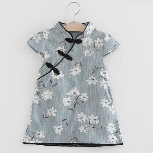 Tout-petits Enfants Bébé Fille Floral Midi Habit Robe de Soirée de Princesse