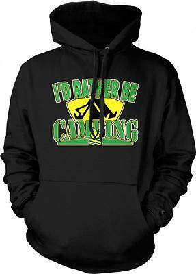 I/'d Rather Be Camping Tents Campfire Propane Stove Nature Hiking Hoodie Pullover