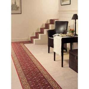Hallway-Runner-Carpet-Rug-Red-67cm-Wide-Rubber-Backed-Cardina-Bidjar-Per-Metre