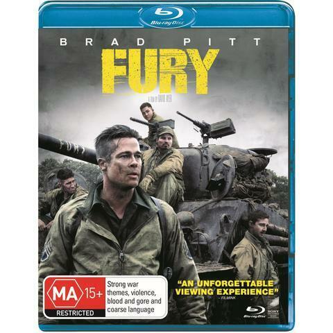 FURY BLU RAY - NEW & SEALED BRAD PITT, WW2, MASTERED IN 4K FREE POST