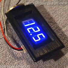 VOLTMETRO DIGITALE LED 0-100V BLU [tensione tester pannello auto bici elettrica