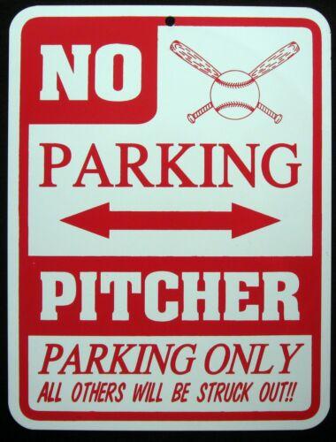 Softball Pichet Parking seulement d/'acier signe-No Parking Sign-Baseball