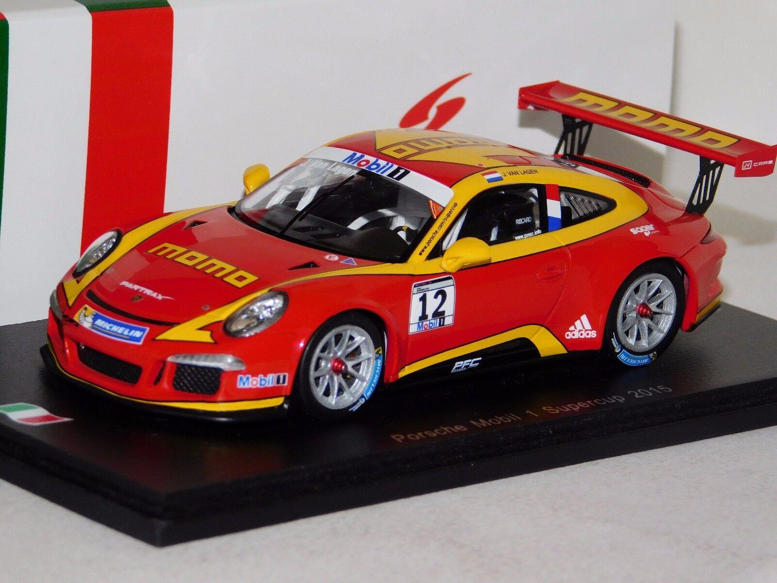 PORSCHE 911 GT3 MOMO MOBIL 1 Cup 2015  12 J.V. Lagen Spark Lim. SI003 1 43