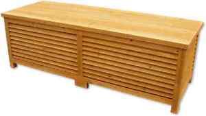 Baule cassapanca box in legno per esterno giardino ebay - Cassapanca legno da esterno ...