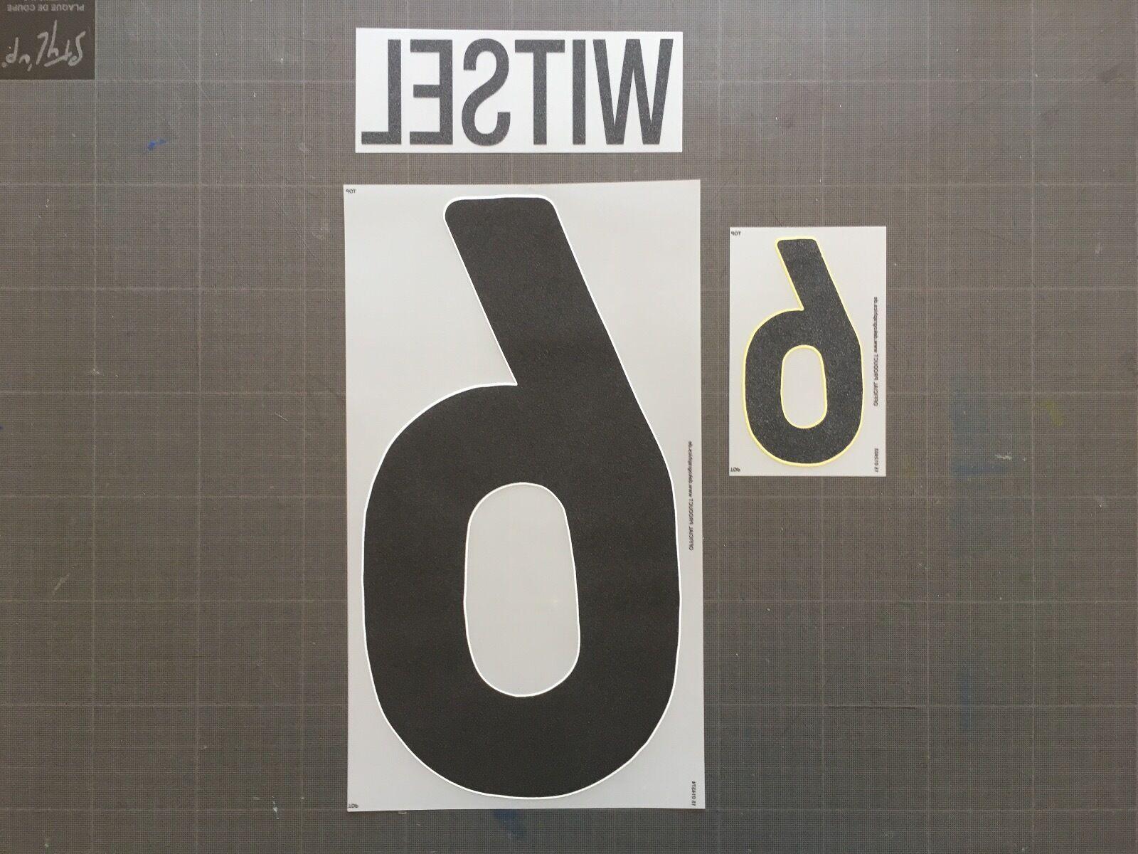 WITSEL 6 BELGIUM AWAY AWAY AWAY NAMESET FLOCAGE TRANSFERT BELGIQUE DEKOGRAPHICS e4124b