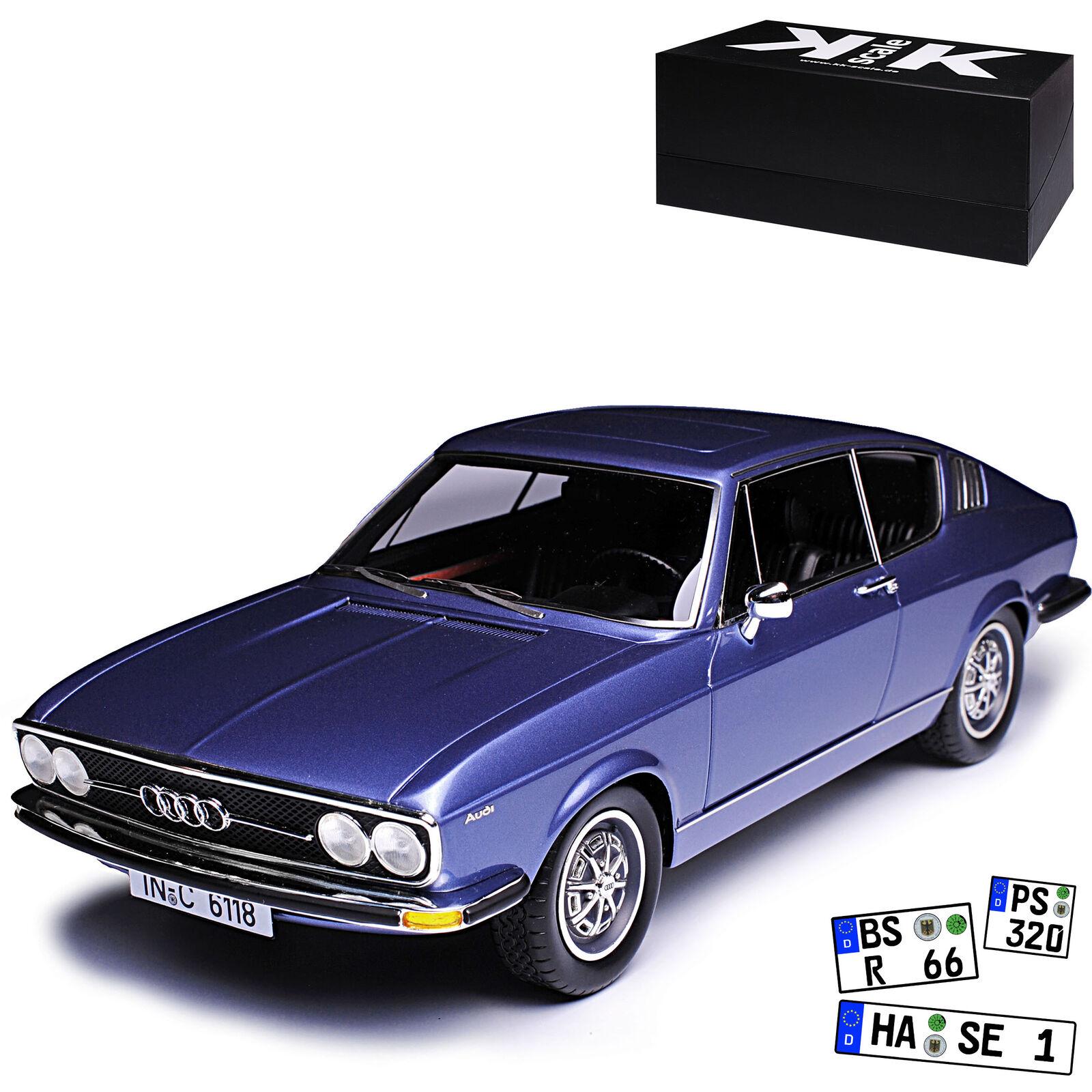 AUDI 100 S c1 Coupe Blu 19681976 stata limitata 500 pezzi 118 KKscale modellololo au...
