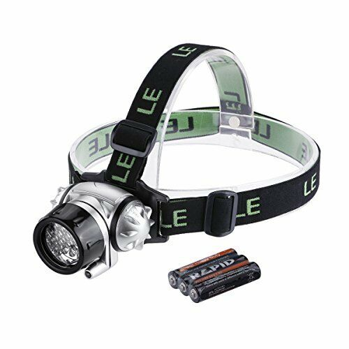 LE Headlamp LED, 4 Modes Headlight, Battery Powered Helmet Light for Camping, 3